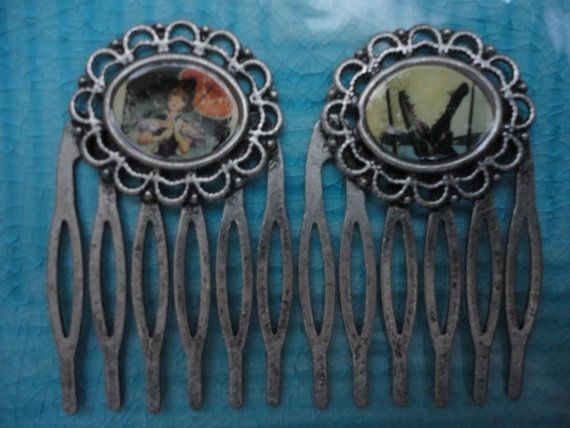 Disney Haunted Mansion Stretching Portrait hair combs by ImAsMADaSaHaTTeR, $15.00