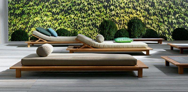Holz Le Design die liege besteht aus holz und modernen formen ute