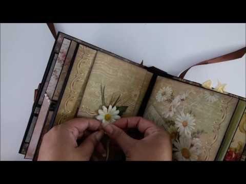 DannyCraftShop Scrapbook Handmade Vintage Mini Album Journal #2 **SOLD**