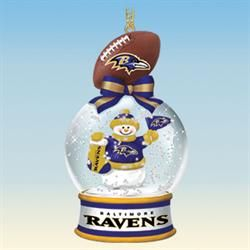 Baltimore Ravens Snow Globe Ornaments - Your 1st One is FREE! - The Danbury Mint
