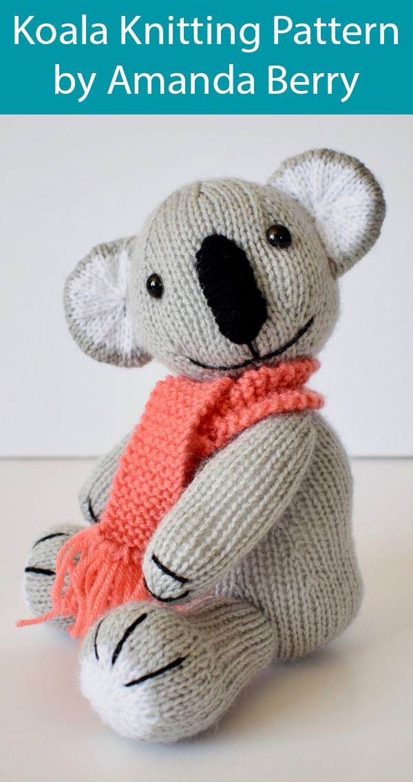 Knitting Pattern for Koala by Amanda Berry - Katie Koala ...