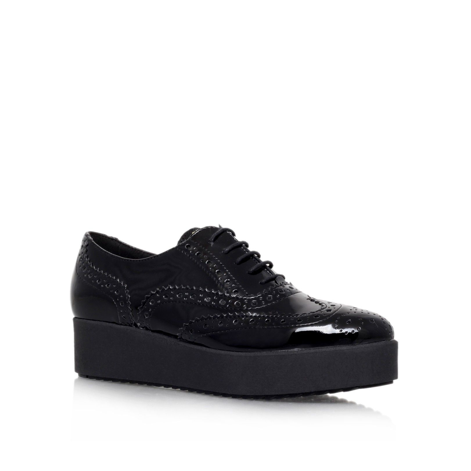 leslie black platform brogue shoes from Carvela Kurt Geiger | - MY ...