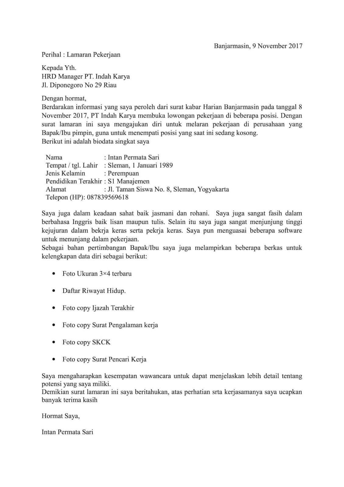 Contoh Surat Semi Block Style Tentang Pemesanan Barang Contoh Lif Co Id