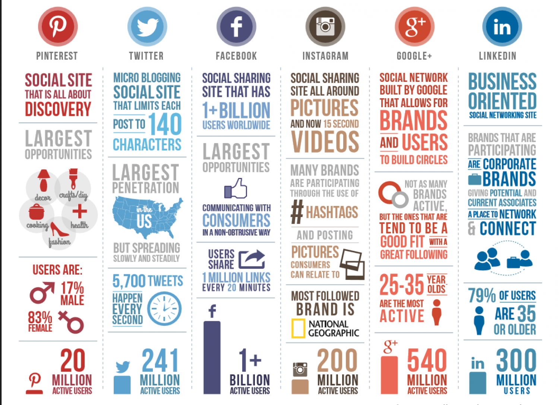 Social Media Networks Infographic - stats for Pinterest ...