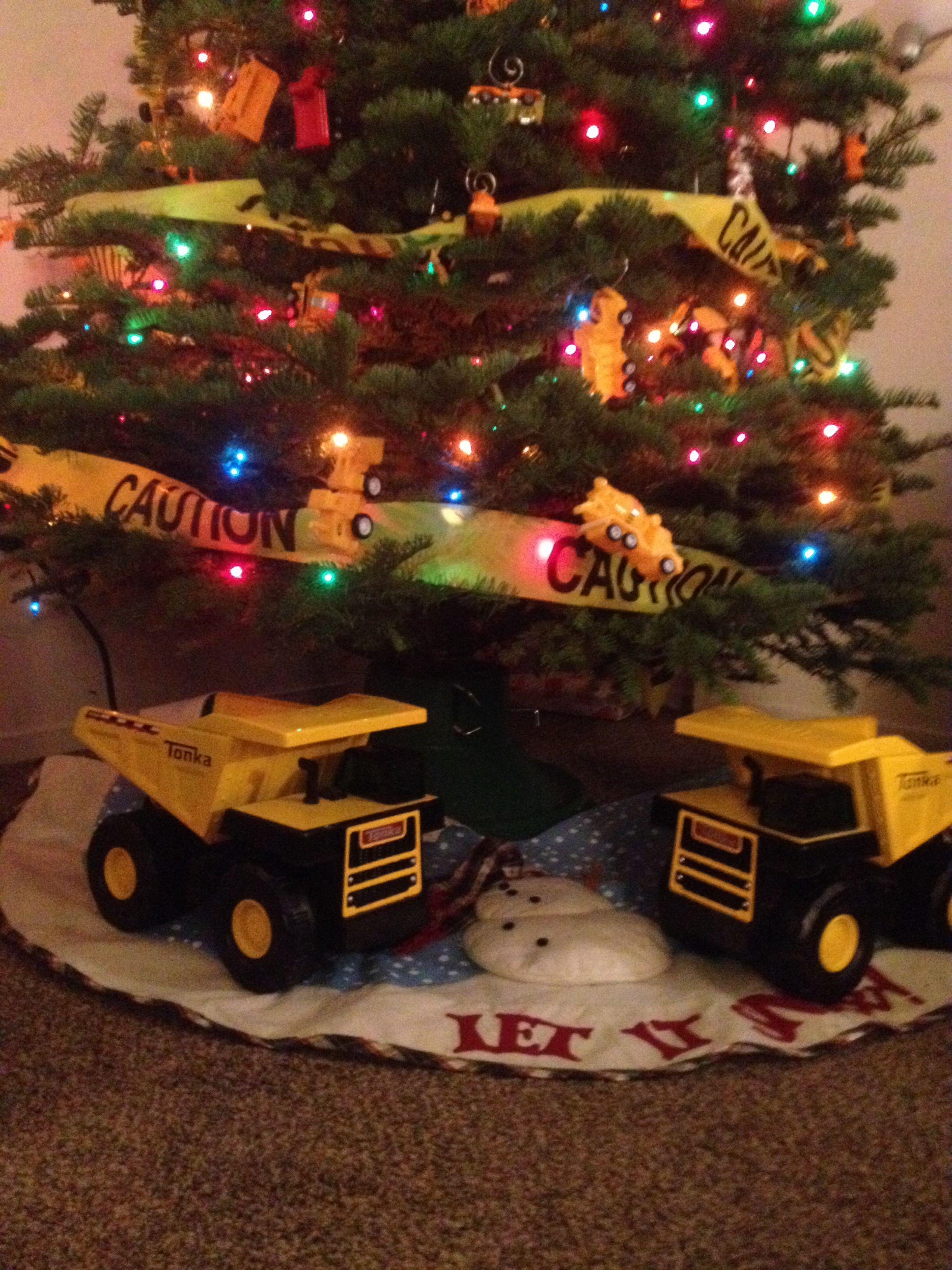 Under Construction Christmas Tree Navidad Pinterest