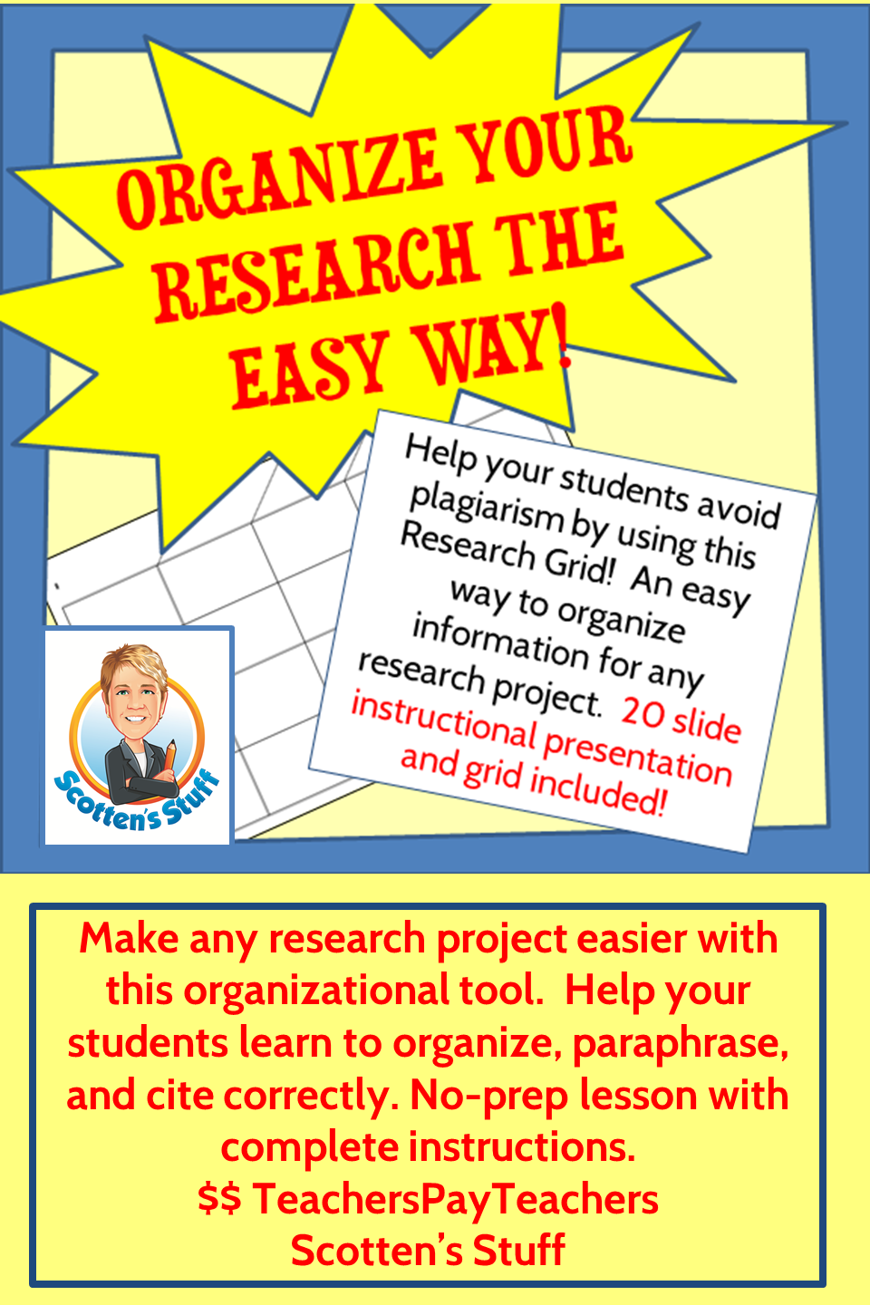 Perfect For Middle And High School Thi Method Of Organizing Research Make It Easy Your Student Information Literacy Teaching Computer Skills Plagiarism Proper Paraphrasing
