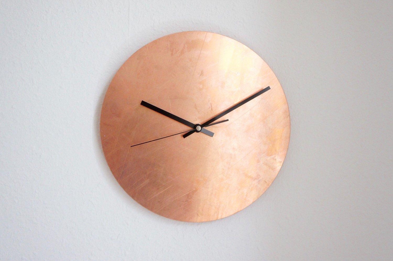 60cm Copper Trafalgar Metal Wall Clock In 2020 Metal Wall Clock Large Wall Clock Wall Clock