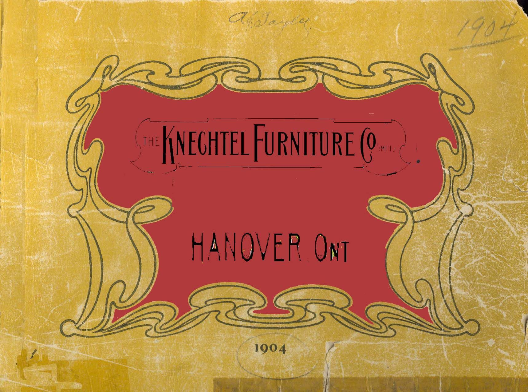 Reproduced 1904 Knechtel Furniture Catalogue