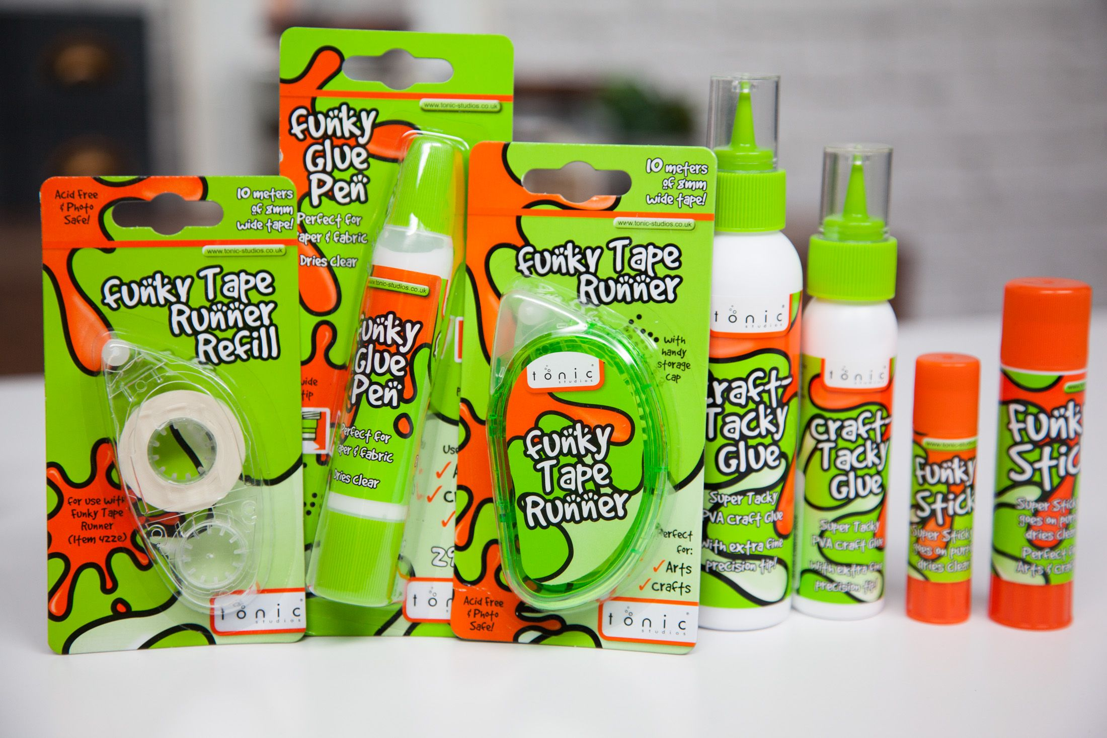 Get Funky!! - Scrapbook.com - An arsenal of adhesives from Tonic Studios!