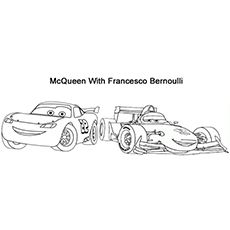 Coloring Pages Of Mcqueen With Francesco Bernoulli Coloring Pages Lightning Mcqueen Cars Animated Film