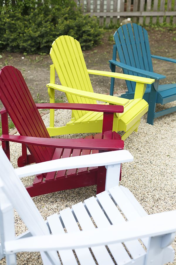 How To Spray Paint A Wooden Adirondack Chair Painted