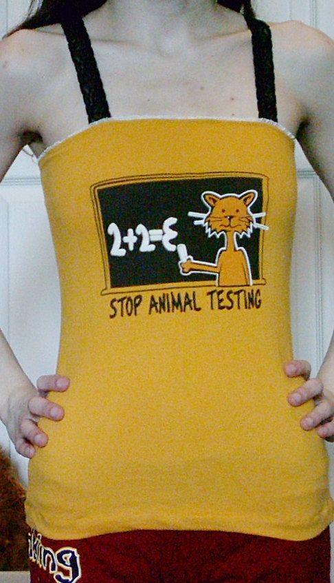Stop Animal Testing DIY Shirt Top Humor by DarkStormClothing, $20.00
