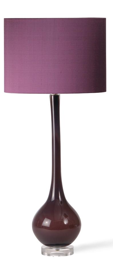 Designer Purple Art Glass Table Lamp, sharing luxury designer home ...