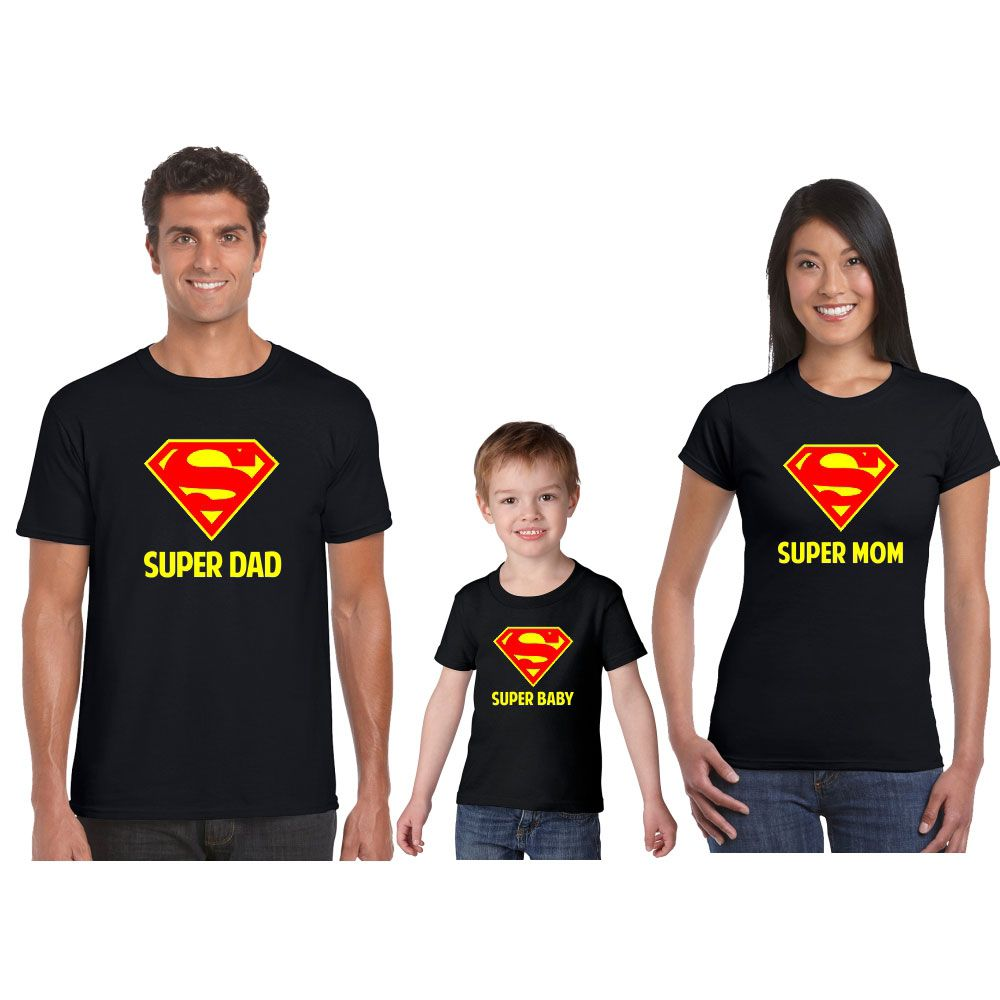 Baby SUPER HERO DAD Christmas Childs Adults T-Shirt MY DADDY IS MY SUPERHERO