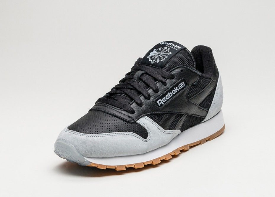 b73f2f8097349 Reebok x Kendrick Lamar Classic Leather  Perfect Split  (Black   Cloud Grey    Gum)