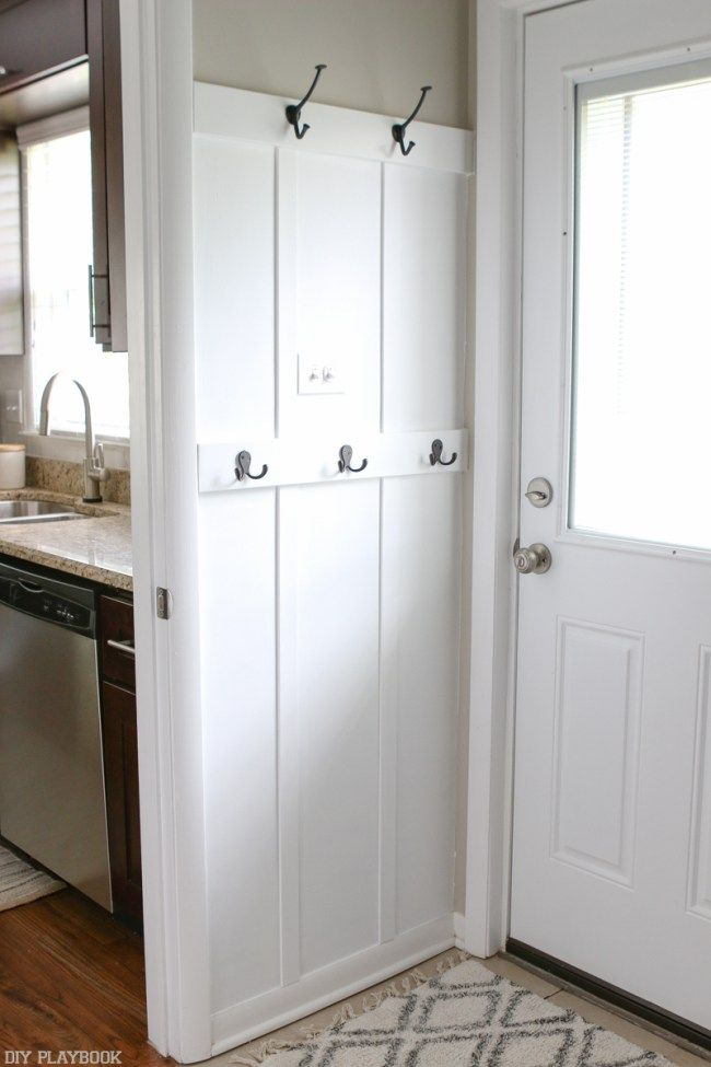 Laundry Room Drop Zone With DIY Board And Batten