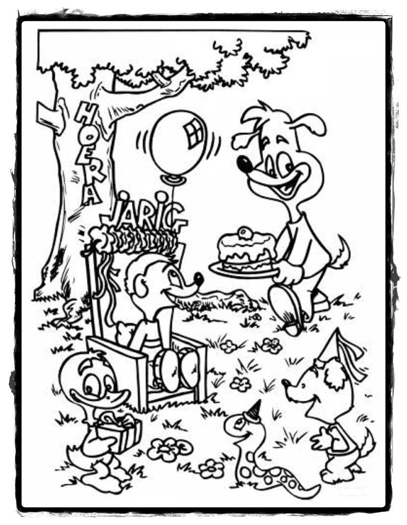 Kleurplaat Minimoomis Nl Cadeau Slingers Balonnen Kleurboeken Dejachthoorn