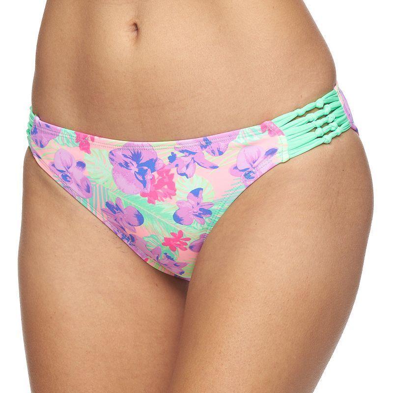 Juniors' In Mocean Strappy Bikini Bottoms, Women's, ...