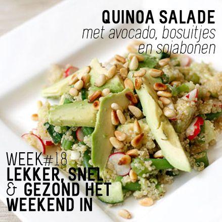WK18: Quinoa salade #avocado #bosuitjes #sojabonen