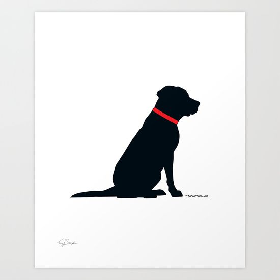 Buy Modern Black Lab Silhouette By Tracy S As A High Quality Art