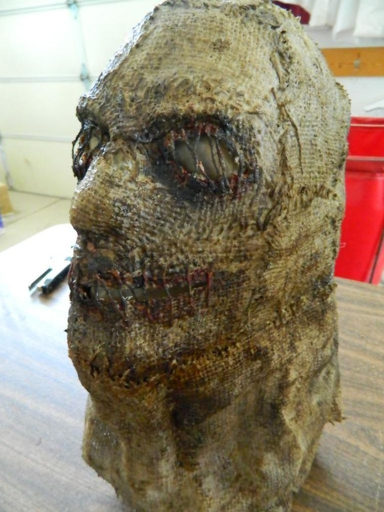 separation shoes c88e2 71e17 Scarecrow Sack Killer Face Mask Hand Made Holiday   Seasonal Halloween  HALLOWEEN HORROR MOVIE PROP