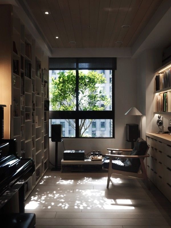A Warm Wood Home In Taiwan With A Beautiful Cozy Reading Nook