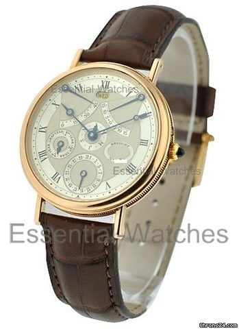 Breguet Perpetual Calendar Equation of Time - 18 KT Rose Gold on Strap with Silver Dial