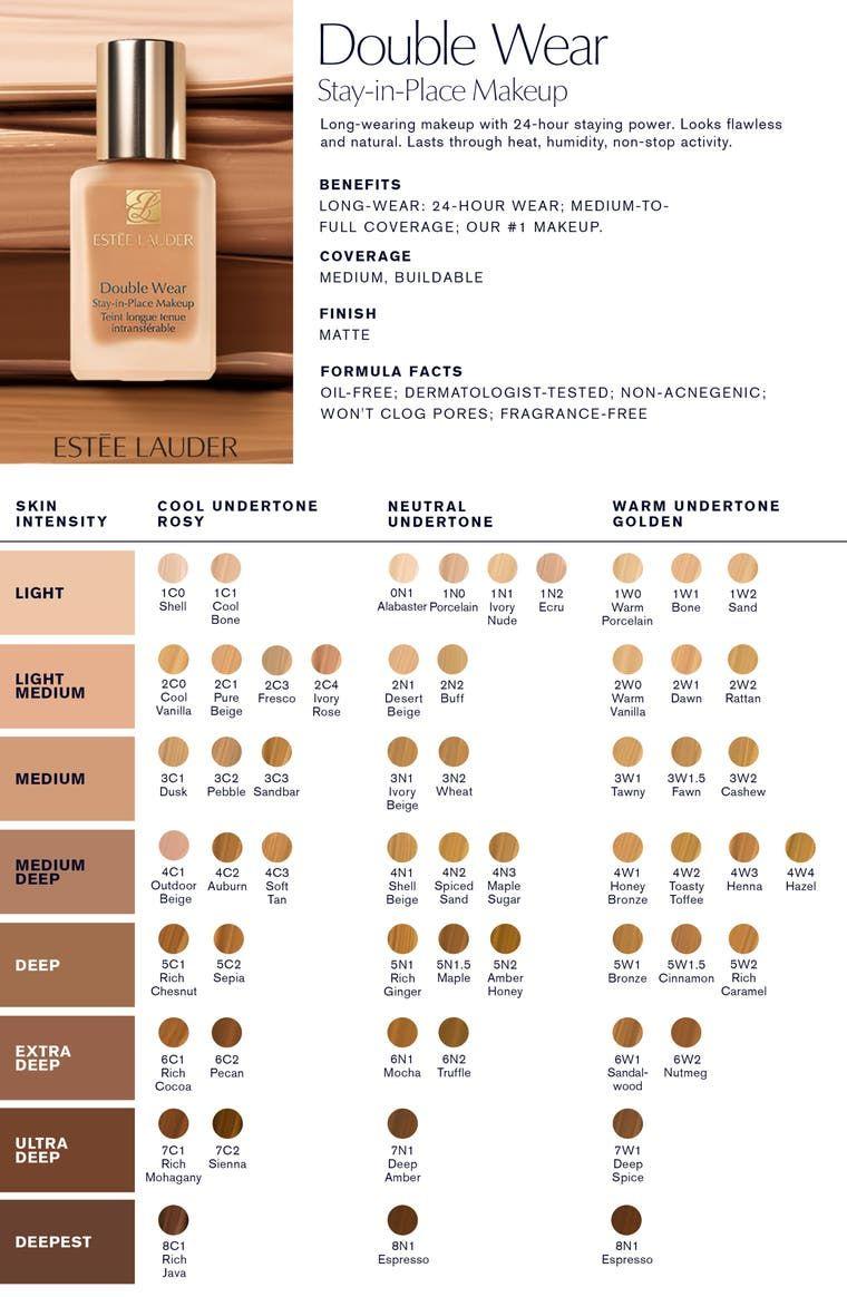 Estée Lauder Double Wear Stay in Place Liquid Makeup Foundation ...