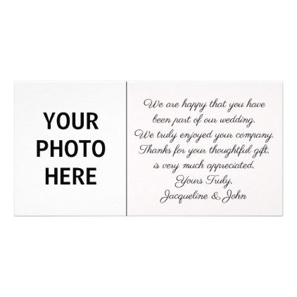 Diy Wedding Thank You Photo Insert
