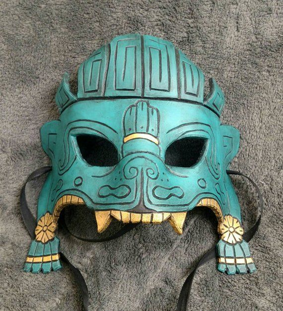 Aztec Jaguar Mask #aztec