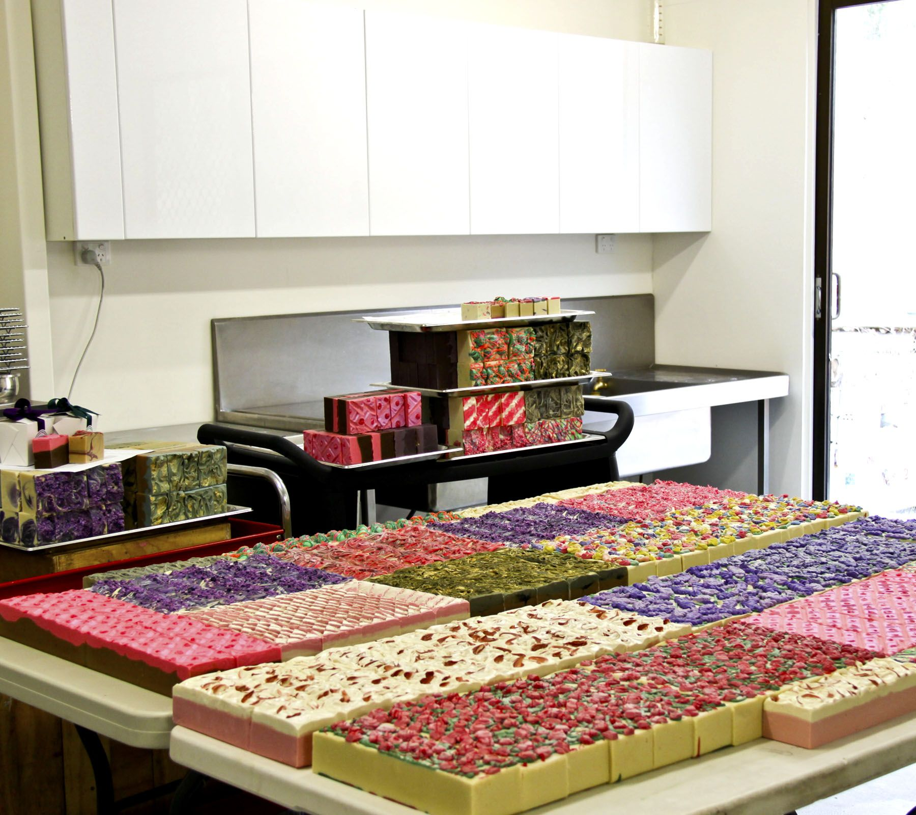 Part of the soap workshop at www.platypusdreams.com.au