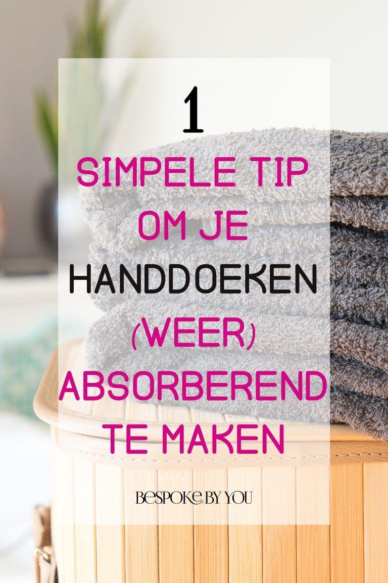 89ab363a2e8 Je handdoeken absorberend maken is een fluitje van een cent met dit simpele  trucje. Ook geschikt om gebruikte handdoeken nieuw leven in te blazen!