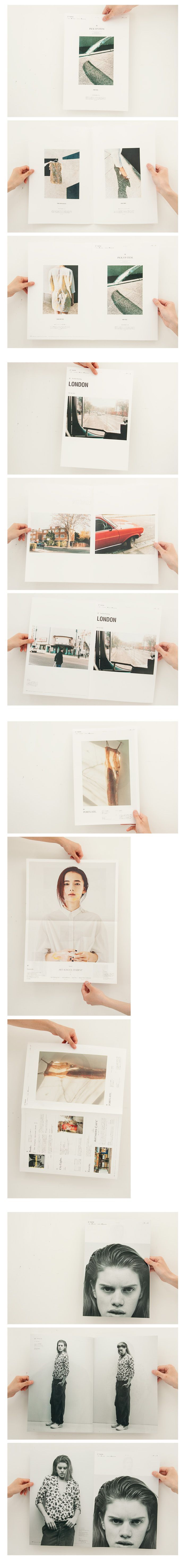 The white space around these photographs creates a beautiful and natural modern page layout. Would be great for trendy and modern advertising creatives. #advertising #modern #graphicdesign
