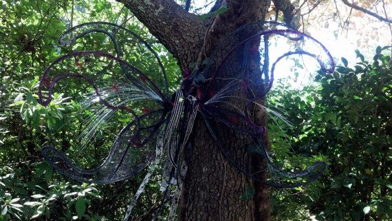 OOAK Fantasy Night Lights Large Spider Web  Wings