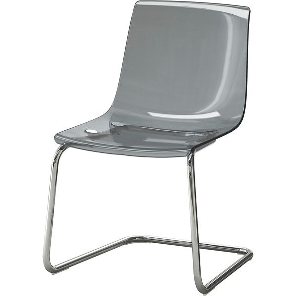 IKEA TOBIAS Chair, gray, chrome plated ($79) liked on ...