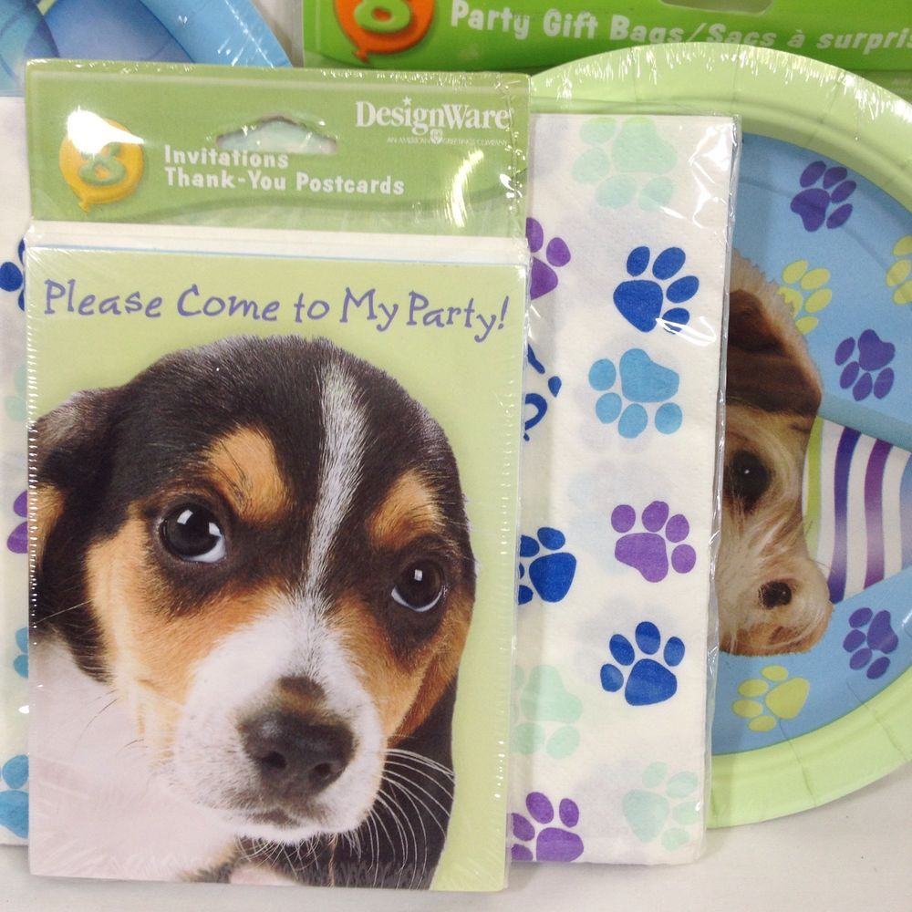 Puppy Dog Party Pups Birthday Party Supplies Plates Napkins Invitations Loot Bag Amscan Birthdaychild Party Bags Birthday Party Supplies Dog Party
