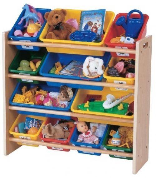 Kids Storage Bin Organizer Playroom Children Rack Shelves Preschool Furniture