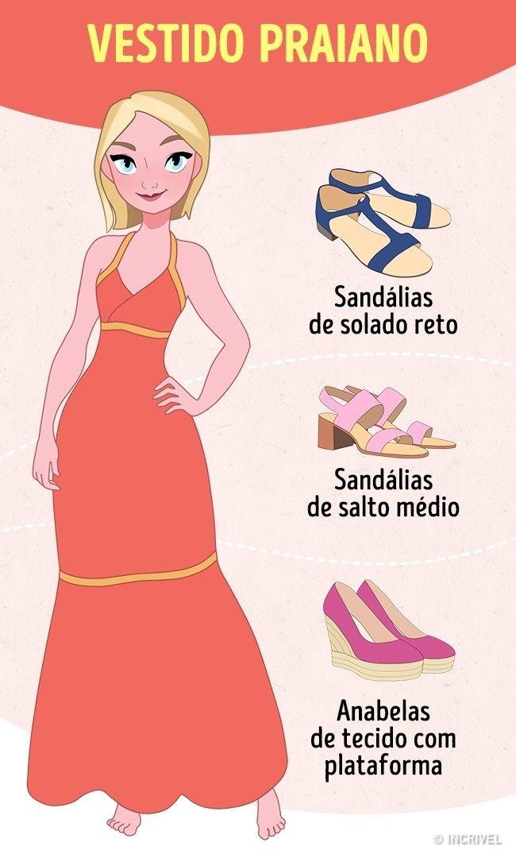 ab9d8c490 Como Escolher o Sapato Perfeito Para Qualquer Vestido!!! | обувь ...