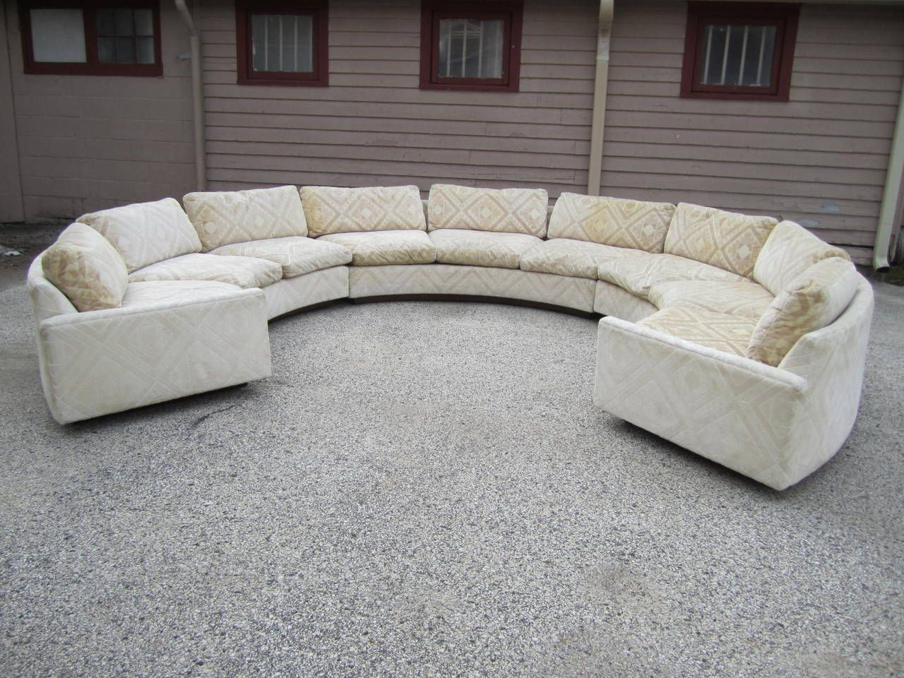 Bon Spectacular Three Piece Milo Baughman Circular Sofa, Mid Century Modern |  From A Unique Collection Of Antique And Modern Sectional Sofas At ...