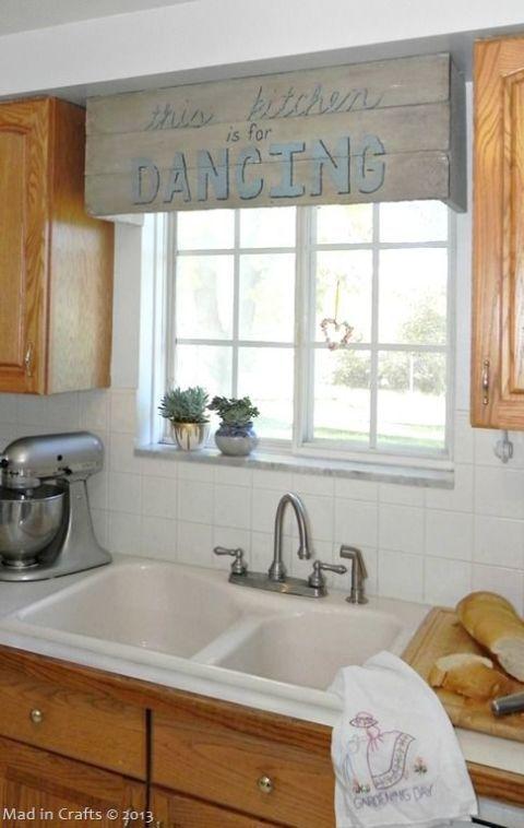 12 Impressive DIY Window Treatments Kitchen decor, Woods and Kitchens