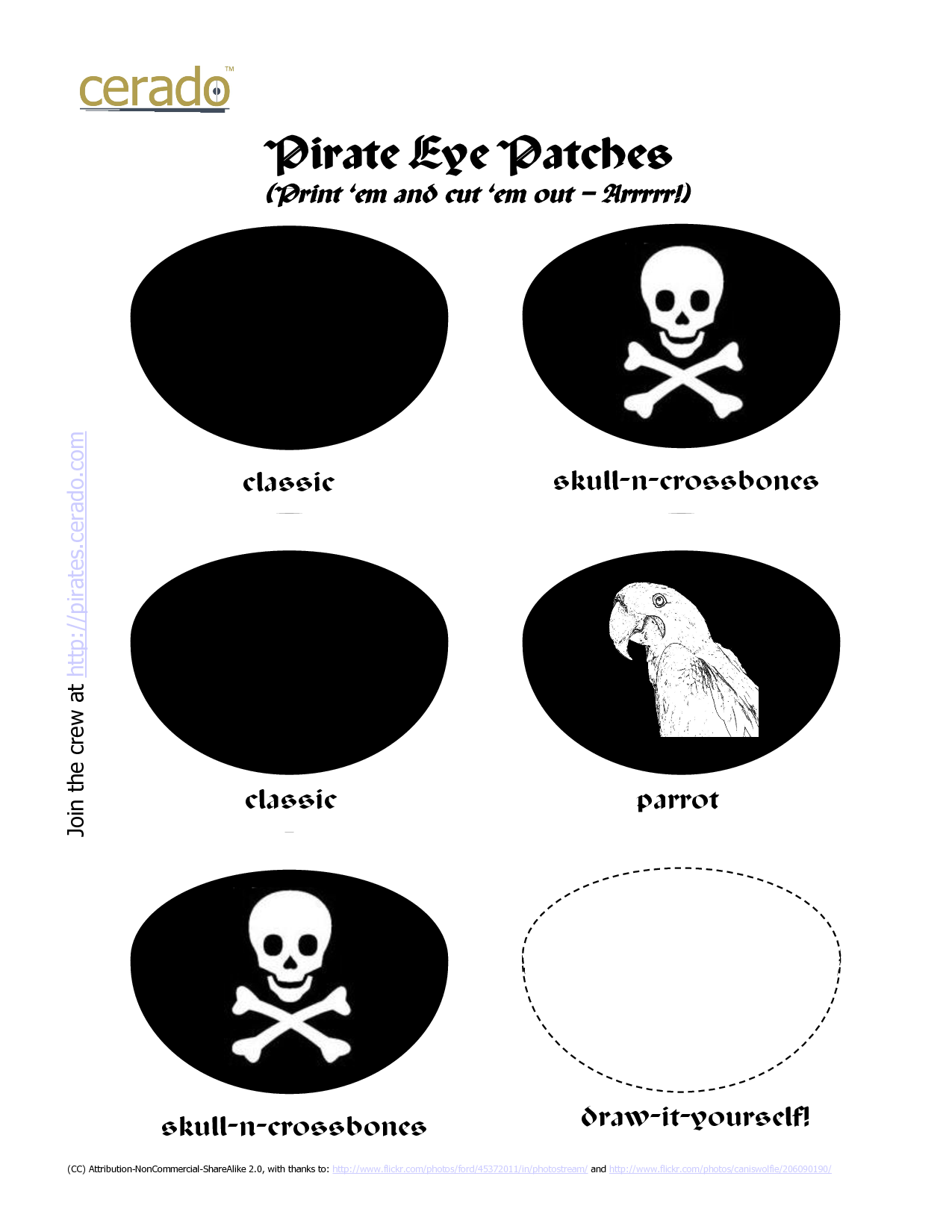 girl pirate hat printable pirate templates. Black Bedroom Furniture Sets. Home Design Ideas