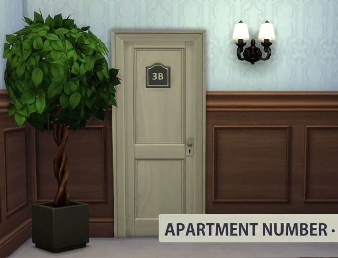 Apartment Door Number at Sims in Spring • Sims 4 Updates