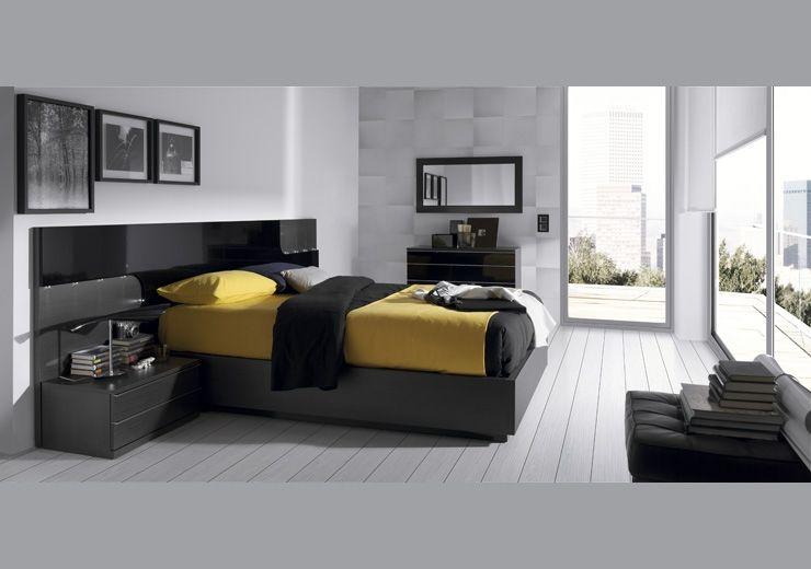 Dormitorio de matrimonio compuesto por: 1.Cabezal Venecia 285 x 100 ...