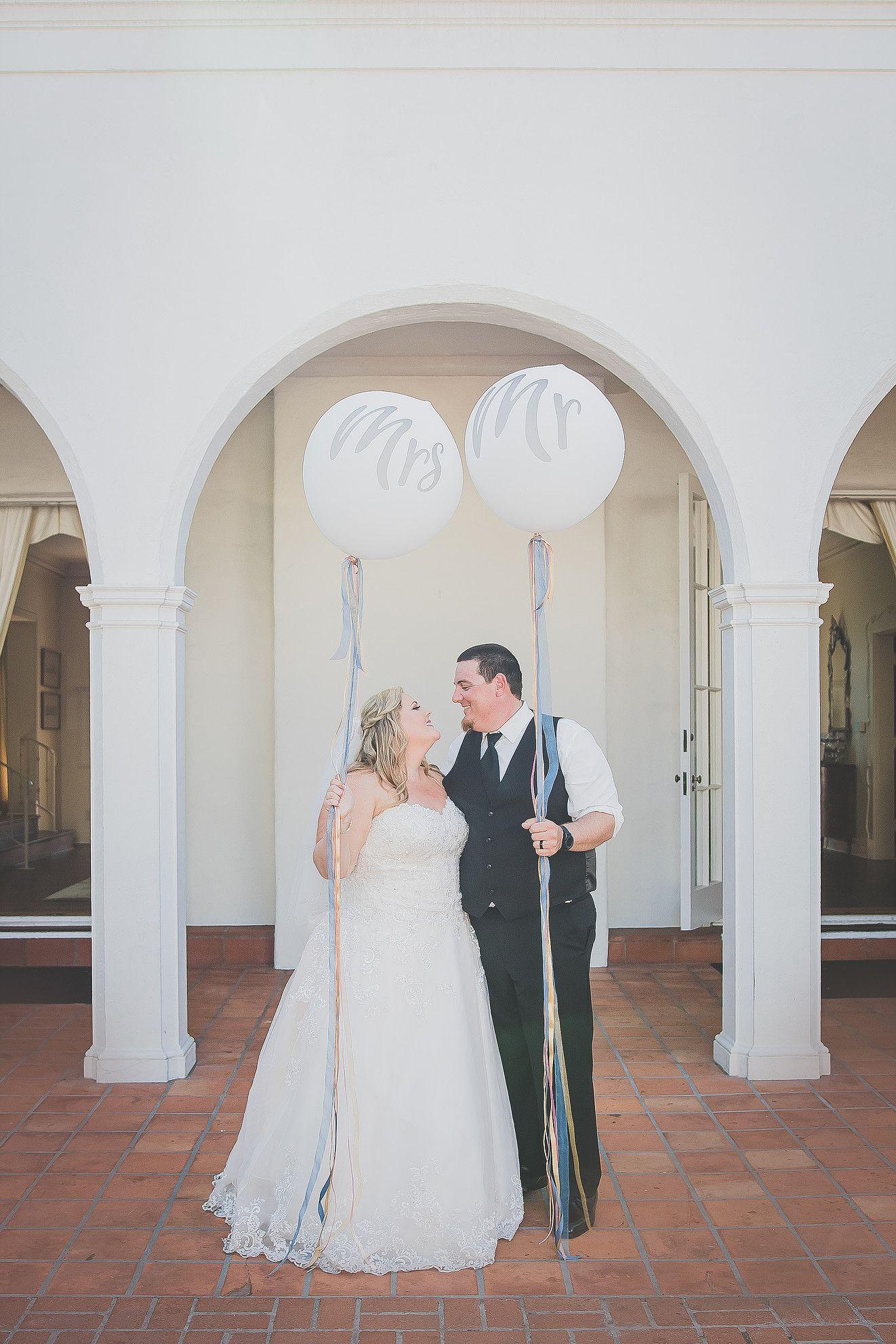 Wedding Mr Mrs Balloons Darlington House Kim C Villa Photography San Go Photographer