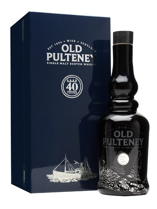 Old Pulteney 40 Year Old : Buy Online - The Whisky Exchange - An impressive and long awaited bottling from Old Pulteney - their oldest release yet, at a hefty 40 years old. It's presented in a hefty box with a book tracing the history of the distillery and th...
