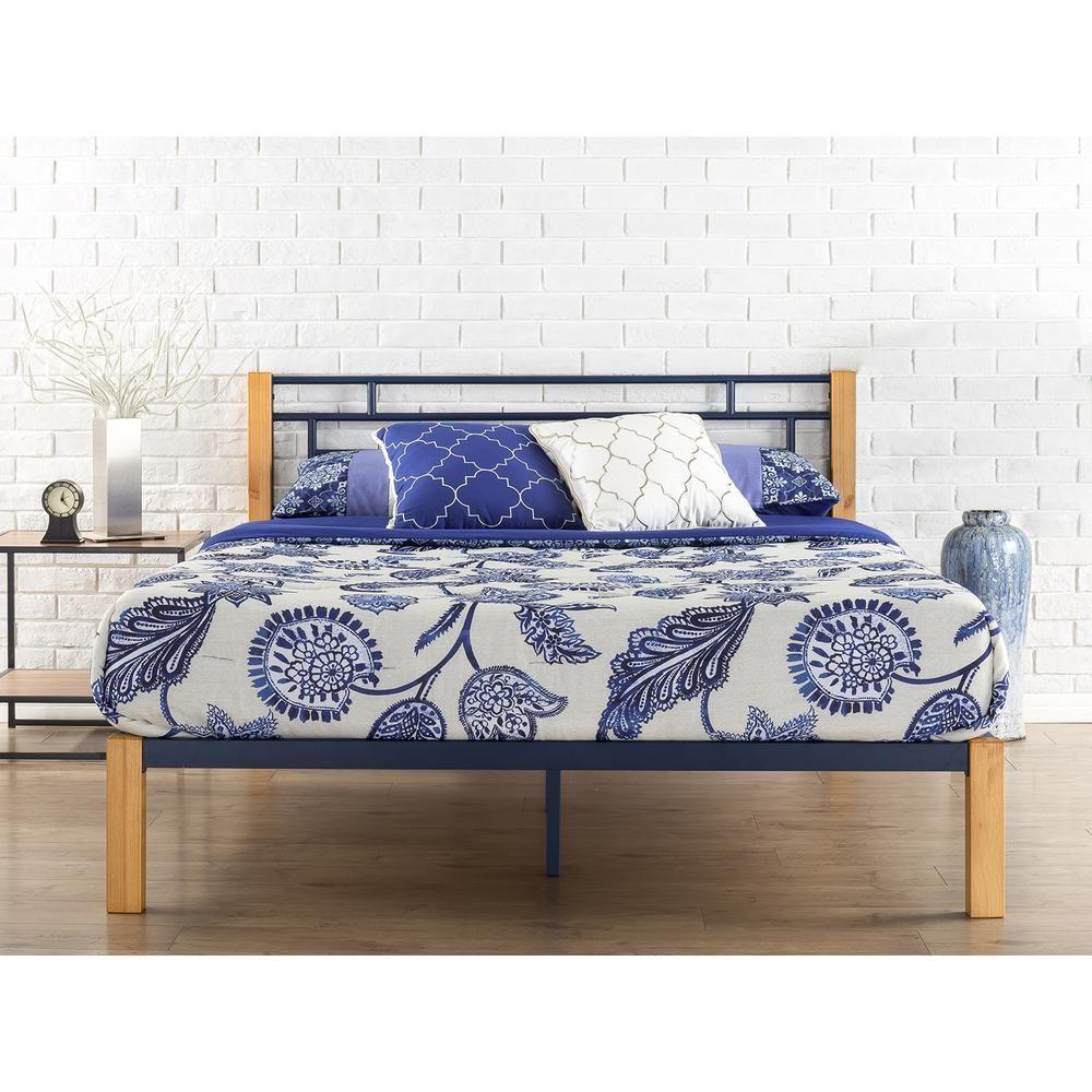 Zinus Taylan Metal Wood Platform Bed Full Hd Hbpbe 14f