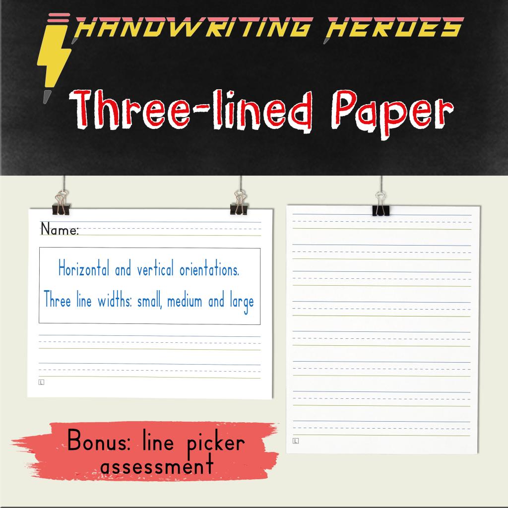 Three Lined Handwriting Paper Amp Bonus Line Picker