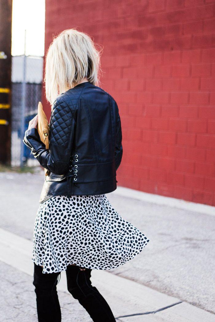 skirt & moto. LA. #DamselInDior