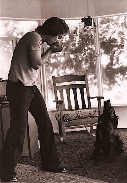 Billy Joel playing backup harmonica for his dog