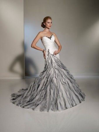 Black And Silver Wedding Dresses Photo Gallery Of White Gown